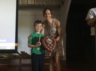 Mrs Gormley presenting Endeavour Award