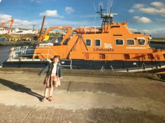 One of our pupils paid a visit to Portrush's lifeboat.