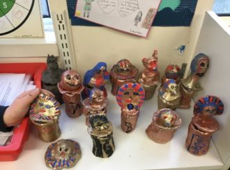 Our Canopic jars