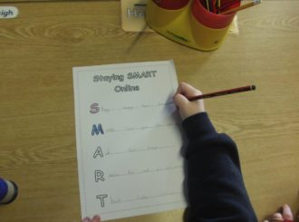 P5 Writing their own words for being internet SMART
